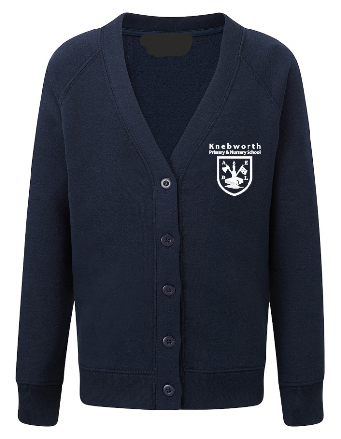 Knebworth Primary New Navy Cardigan